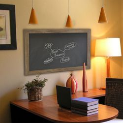 "42""W x 48""H Decorative Wood Framed Blackboard"
