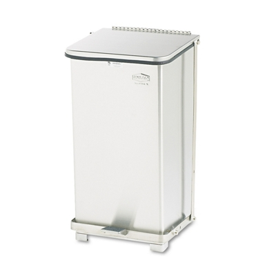 Stainless Steel Step-On Medical Waste Receptacle - 12 Gallon Capacity