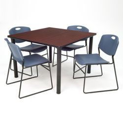 Square Breakroom Table and Chair Set - 42""