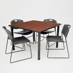 Square Breakroom Table and Chair Set - 36""