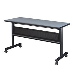 "Merit Flip Top Training Table with Casters and Modesty Panel - 48""W x 24""D"