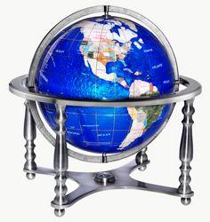 Jewel Inlaid Desktop Globe