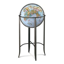 Traditional Globe with Metal Floor Stand