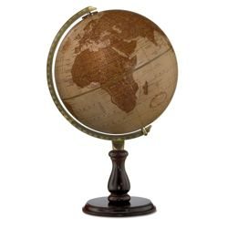Leather Expedition Raised Relief Globe