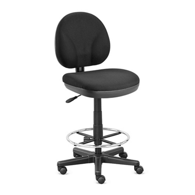 Armless Drafting Stool with Foot Ring - Hundreds of Colors Available