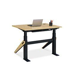 "Bend Height-Adjustable Desk - 48""W x 27""D"