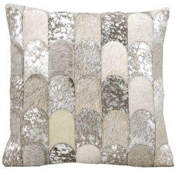 "kathy ireland by Nourison Metallic Hide Square Pillow - 20"" x 20"""