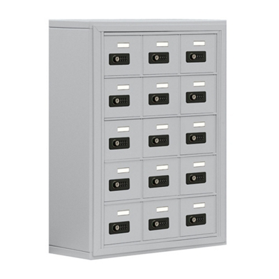 "24""W x 31""H 15 Compartment Cell Phone Locker with Combination Lock"