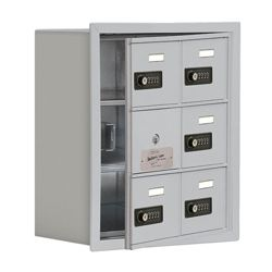 "17.5""W x 20""H 5 Door Cell Phone Locker with Combo Lock and Access Panel"