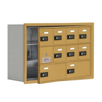 """30.5""""W x 20""""H 9 Door Cell Phone Locker with Combo Lock and Access Panel"""