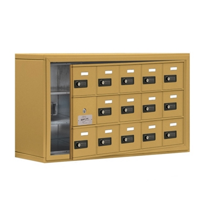 """37""""W x 20""""H 14 Door Cell Phone Locker with Combo Lock and Access Panel"""