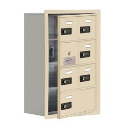 """17.5""""W x 25.5""""H 6 Door Cell Phone Locker with Combo Lock and Access Panel"""