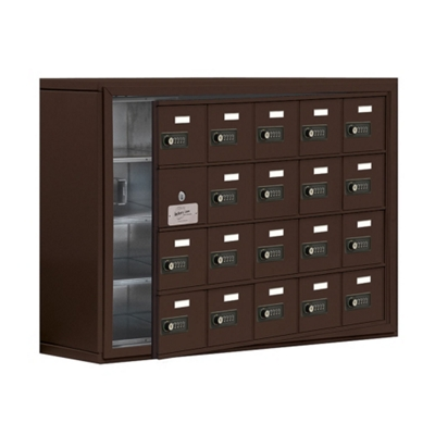 """37""""W x 25.5""""H 19 Door Cell Phone Locker with Combo Lock and Access Panel"""
