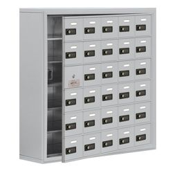 """37""""W x 36.5""""H 29 Door Cell Phone Locker with Combo Lock and Access Panel"""