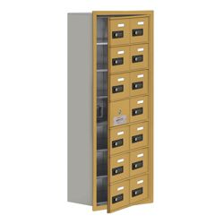 """17.5""""W x 42""""H 13 Door Cell Phone Locker with Combo Lock and Access Panel"""