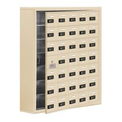 "37""W x 42""H 34 Door Cell Phone Locker with Combo Lock and Access Panel"