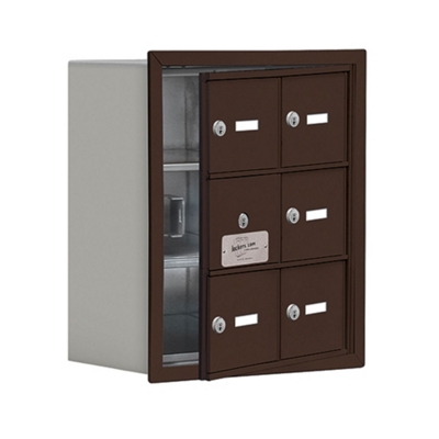 """17.5""""W x 20""""H 5 Door Cell Phone Locker with Key Lock and Access Panel"""