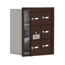 "17.5""W x 20""H 5 Door Cell Phone Locker with Key Lock and Access Panel"
