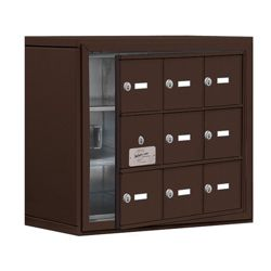 """24""""W x 20""""H 8 Door Cell Phone Locker with Key Lock and Access Panel"""