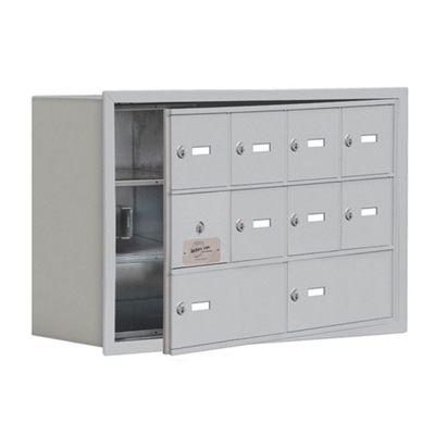 """30.5""""W x 20""""H 9 Door Cell Phone Locker with Key Lock and Access Panel"""