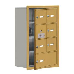 """17.5""""W x 25.5""""H 6 Door Cell Phone Locker with Key Lock and Access Panel"""