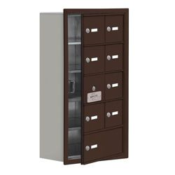 """17.5""""W x 31""""H 8 Door Cell Phone Locker with Key Lock and Access Panel"""