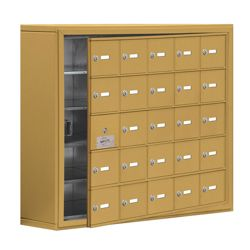 """37""""W x 31""""H 24 Door Cell Phone Locker with Key Lock and Access Panel"""