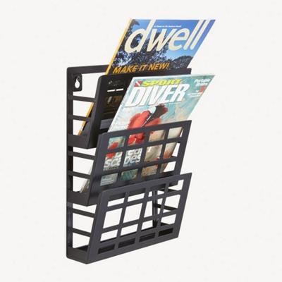 Three Pocket Grid Literature Display Rack