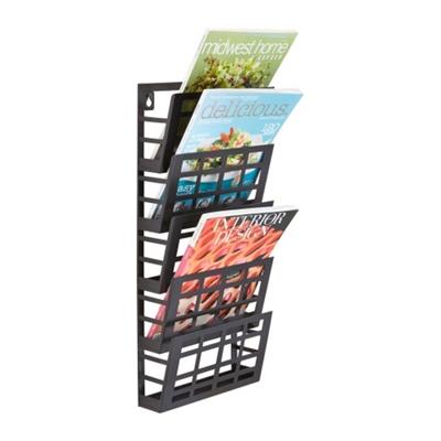 Five Pocket Grid Literature Display Rack