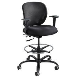 24/7 Big and Tall Mesh Back Ergonomic Stool with Arms