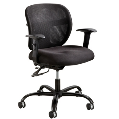 24/7 Big and Tall Mesh Back Ergonomic Task Chair with Arms