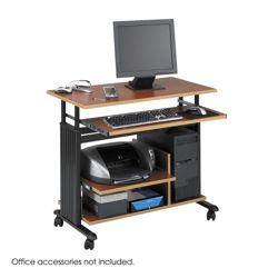 Customized Height Computer Workstation with Casters