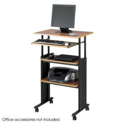 Adjustable Standing Height Computer Workstation with Casters