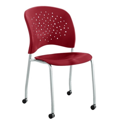 Plastic Guest Chair with Casters
