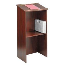 Traditional Lectern with Shelf