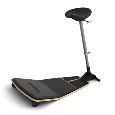 Leaning Perch Stool with Anti-Fatigue Mat by Focal Upright