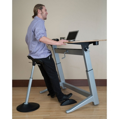 Perch Stool, Desk and Footrest Set by Focal Upright