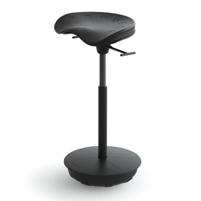 Perch Stool with Rubber Base by Focal Upright