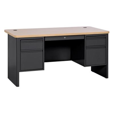 "Steel Double Pedestal Computer Desk - 60""W x 30""D"
