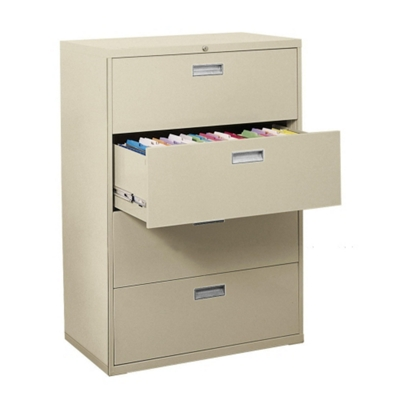 "36""W 4 Drawer Steel Lateral File"