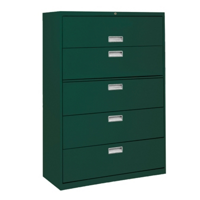 "36""W 5 Drawer Steel Lateral File"