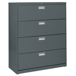 "42""W 4 Drawer Steel Lateral File"