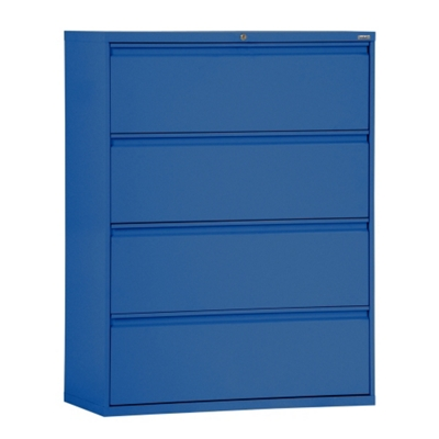 """30""""W 4 Drawer Steel Lateral File"""