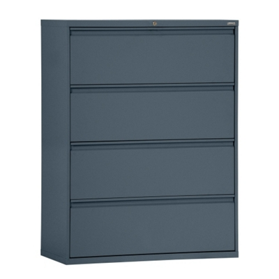 """42""""W 4 Drawer Steel Lateral File"""