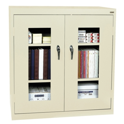 """Storage Cabinet with ClearView Doors - 36""""W x 24""""D"""