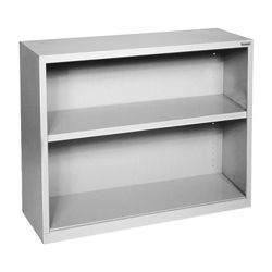 "30""H 2 Shelf Steel Bookcase"