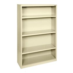 "52""H 4 Shelf Steel Bookcase"