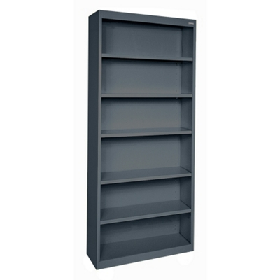 "82""H 6 Shelf Steel Bookcase"
