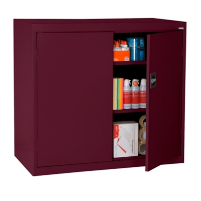 "Steel Counter Height Storage Cabinet - 46""W x 42""H"