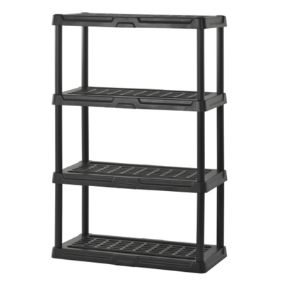 "4 Tier Plastic Shelving Unit - 36""W x 18""D x 56""H"
